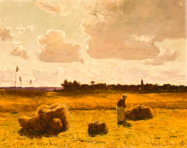 Walter Launt Palmer, Harvest landscape, 27 ½ x 35