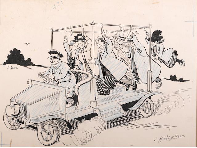 "L.M. Glackens,""Early Mass Transit"","
