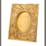 A Tiffany Studios gilt-bronze and Favrile glass Grapevine picture frame 1899-1918