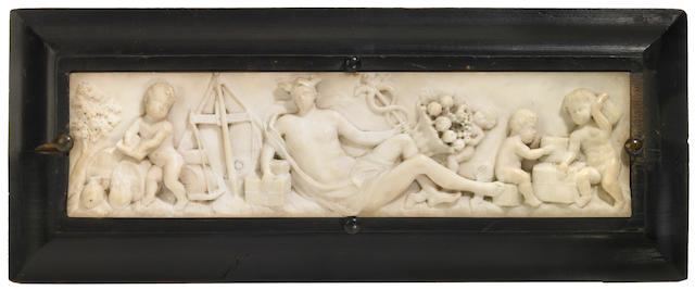 An Italian carved marble panel <br>late 18th/early 19th century