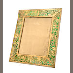 A large Tiffany Studios gilt-bronze Pineneedle picture frame 1899-1918