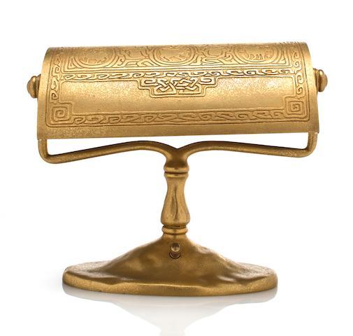 A Tiffany Studios gilt-bronze Zodiac desk lamp 1899-1918