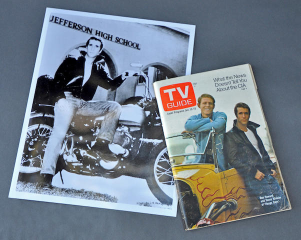"A ""Fonzie"" PR photograph and 1976 TV Guide"