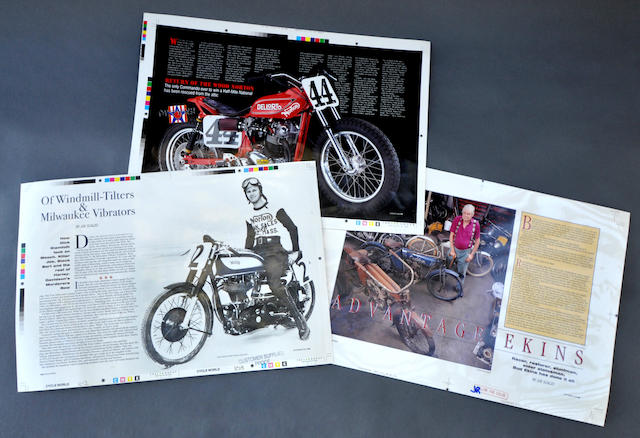 Original page proofs from Cycle World magazine