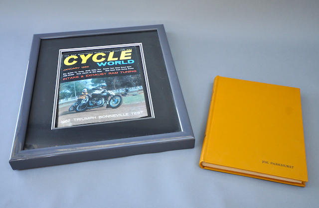 A Framed Vol. 1, No. 1 of Cycle World magazine with 1965-68 Road Test Annual,