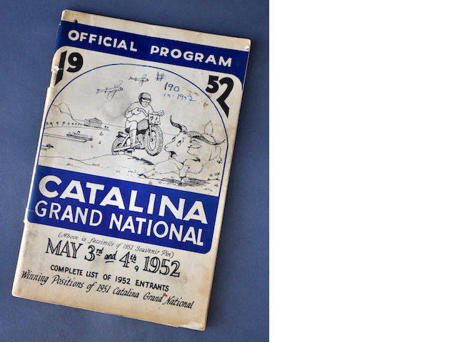 1952 Catalina Grand Prix Official Program