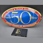 Road & Track 50th Anniversary wall logo