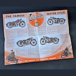 1933 Velocette full-line fold out brochure