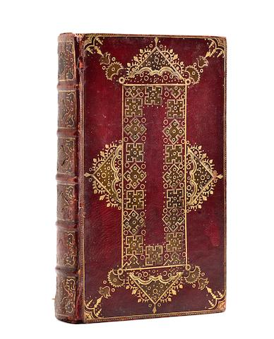 FORE-EDGE PAINTING-18TH CENTURY. Le livre des prieres communes | The Book of Common Prayer. Oxford: John Baskett, 1717.