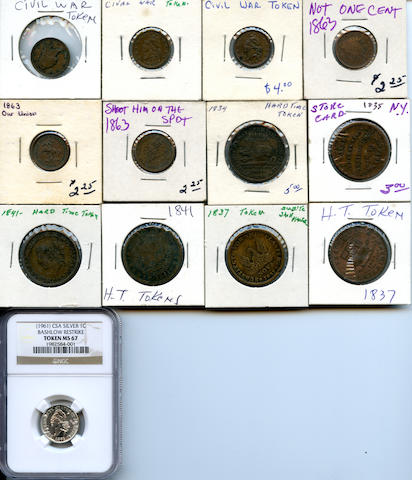 Civil War and Hard Time Tokens (13)