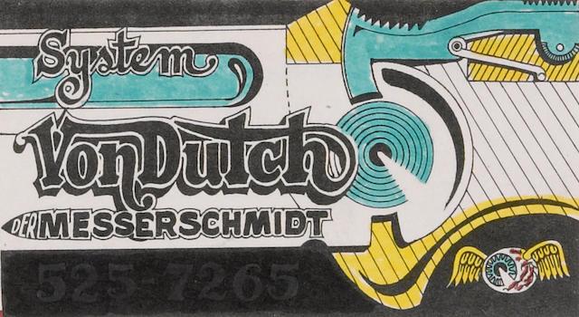 A Von Dutch Business card,