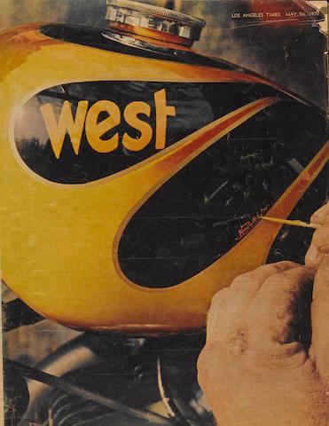 An issue of L.A. West magazine featuring Von Dutch,