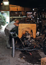 "44 negatives of Von Dutch building the ""Rievers Car"""