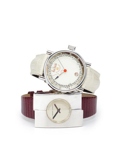 "Alan Silberstein ""Club Medio"" wristwatch in box"