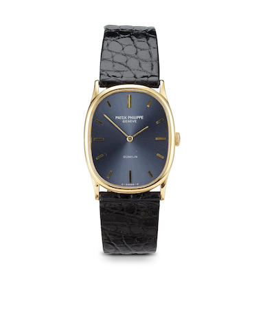 Gold wristwatch, Patek, Ellipse with extract