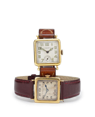 Vacheron & Constantin. A fine 18K gold early wristwatchCase no. 246577, Movement no.391526, circa 1920
