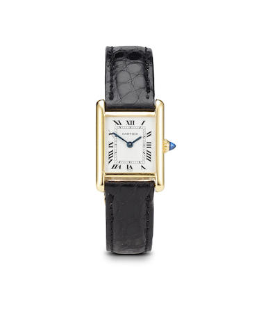 Cartier. An 18K gold Tank wristwatchNo. 780870204