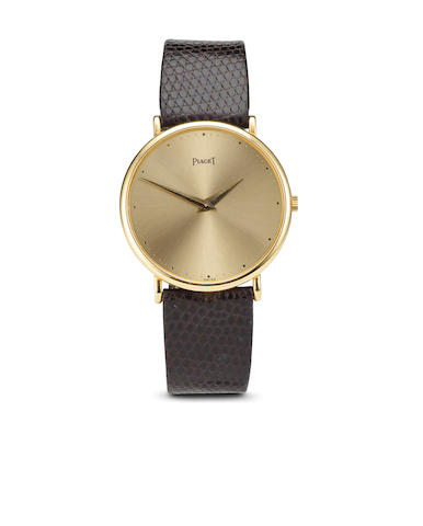 Piaget. A thin 18K gold wristwatchCase. No. 334808, Movement no. 7904452