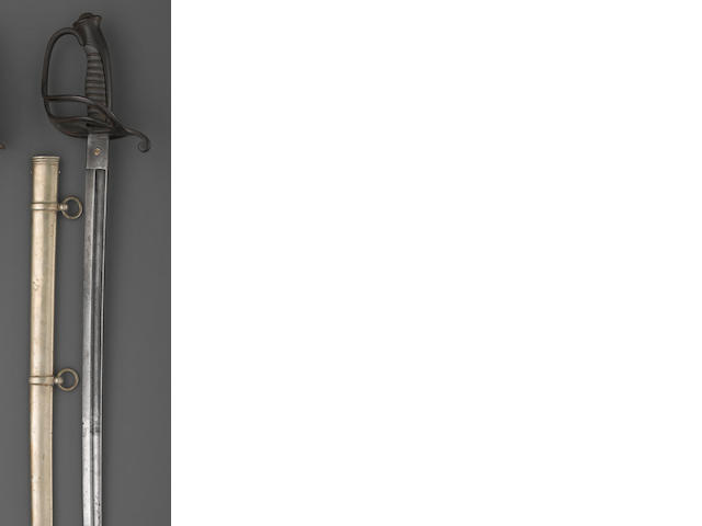 A non-regulation Civil War cavalry officer's saber