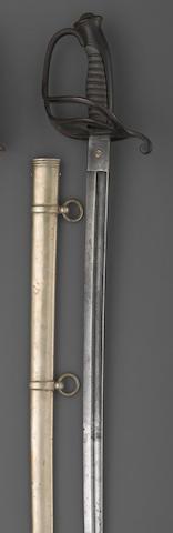 A non-regulation Civil War cavalry officer's saber