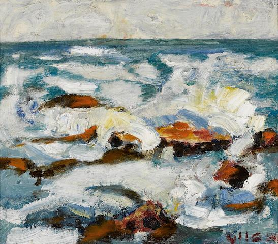 Selden Connor Gile (American, 1877-1947) Carmel water, 1934 6 1/2 x 7 1/2in