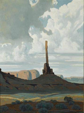 James Swinnerton (American, 1875-1974) Totem Pole, Monument Valley, Arizona 40 x 30in