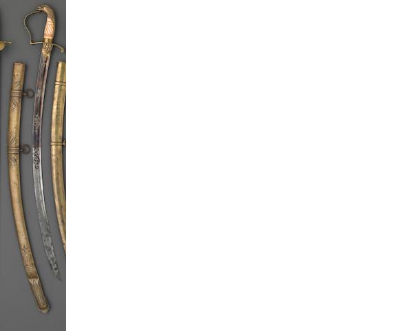 An American eagle pommel officer's saber