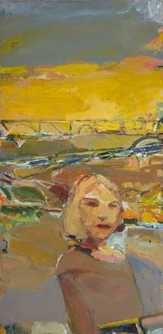 Kim Frohsin (American, born 1961) Inbar, 1992 47 1/2 x 24in
