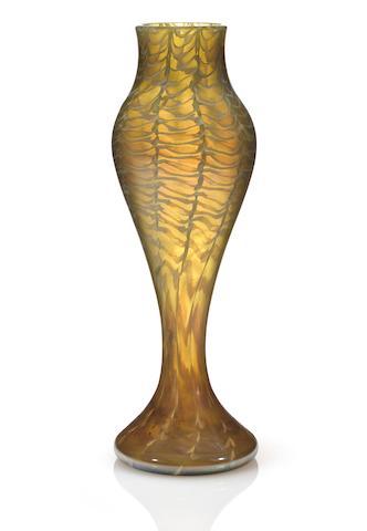 A Tiffany Studios Favrile glass vase circa 1894