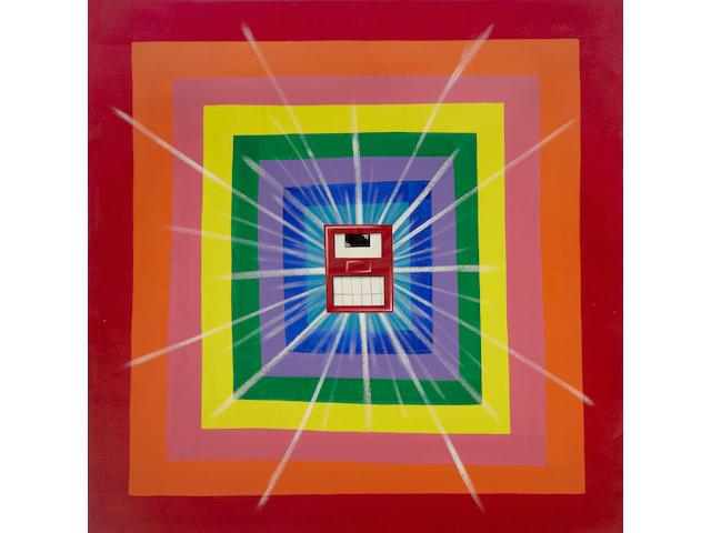 Kenny Scharf (American, born 1958) Squareget, 1988 96 x 96in