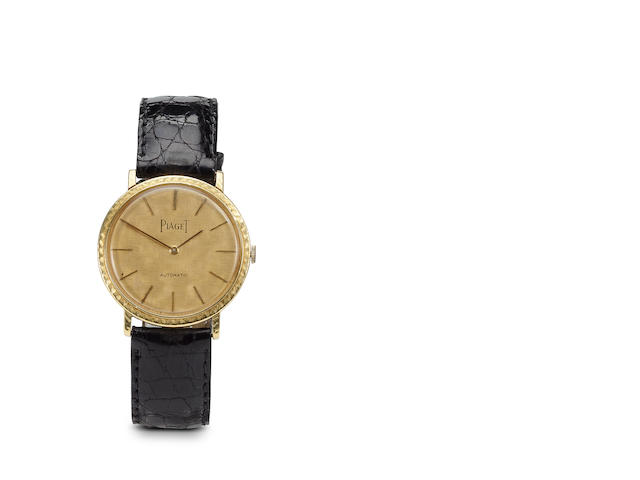 An 18k gold automatic ultra-thin Piaget strap wristwatch