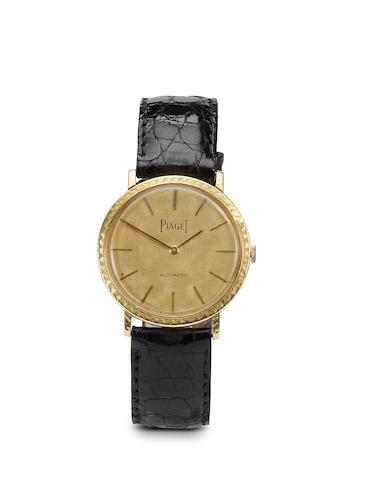 An 18k gold automatic ultra-thin Piaget strap wristwatch