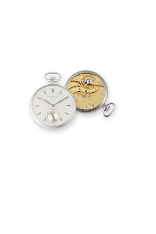 Patek Philippe. An open faced stay brite pocketwatch