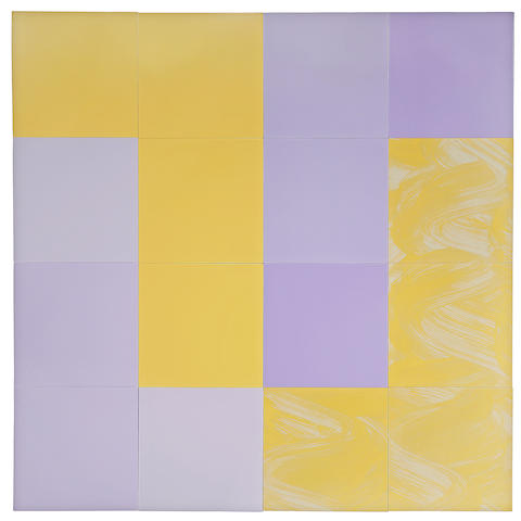 Tim Ebner (American, born 1953) Color Cue Q15, 1986-87 each 24 x 24in overall 96 x 96in