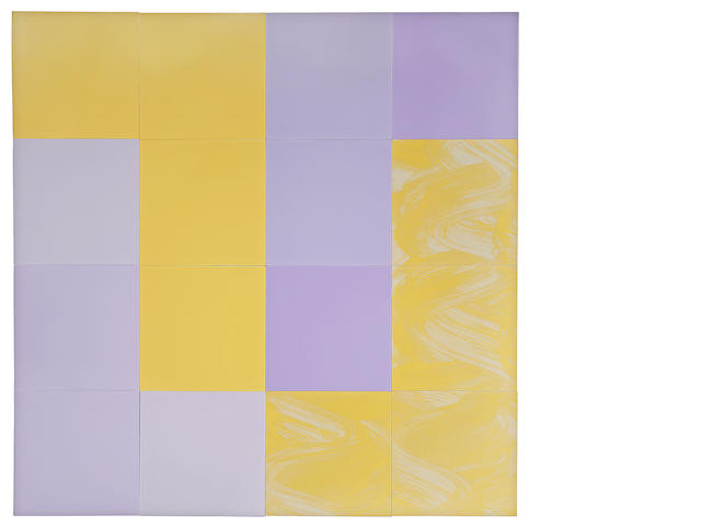 Tim Ebner (American, born 1953) Color Cue Q15, 1986-87 each 24 x 24in<br>overall 96 x 96in