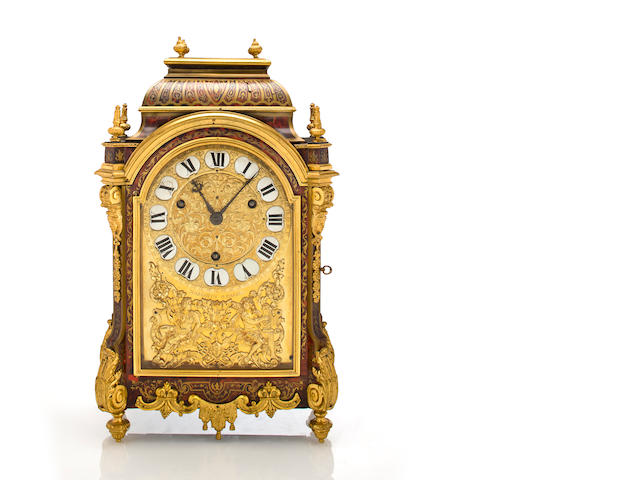 A Louis XIV gilt bronze mounted boulle marquetry bracket clock  Pierre Margotin, Paris