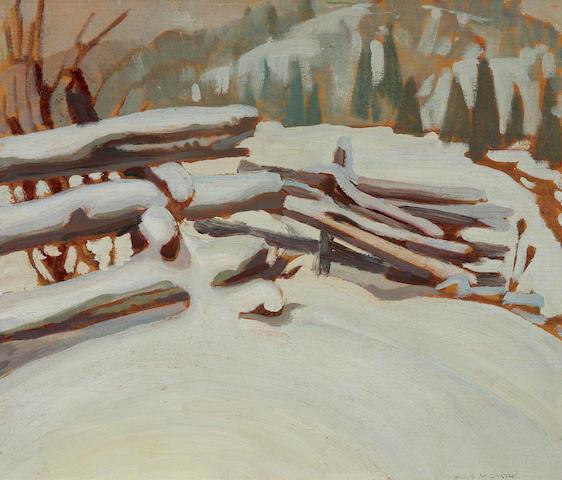 Doris Jean McCarthy R.C.A., O.S.A. (Canadian, 1910-2010) Untitled (Snow Scene)