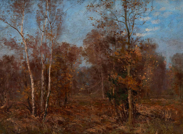 Peleg Franklin Brownell, RCA OSA CAC (Canadian, 1857-1946) Birchwood Near Eagle Peak, British Columbia, Canada