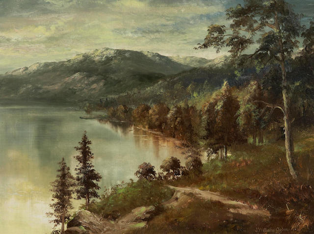 Reverend John Williams Ogden (Canadian, 1859-1936) Lake Okanagan, British Columbia