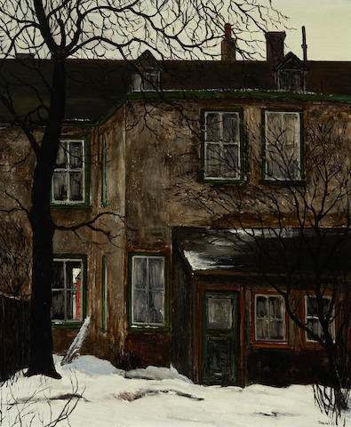 Albert Jacques Franck, A.R.C.A., O.S.A. (Canadian, 1899-1973) Power St Backyard