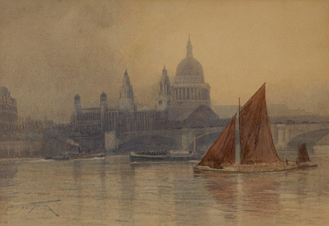 Frederic Marlett Bell-Smith PRCA, OSA (Canadian, 1846-1923) St. Pauls Cathedral