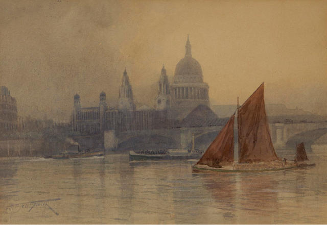 Frederic Marlett Bell-Smith, P.R.C.A., O.S.A. (Canadian, 1846-1923) St. Pauls Cathedral