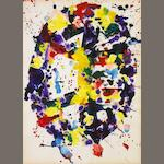 Sam Francis (American, 1923-1994) Untitled, 1978 (SF78-1190) 19 1/4 x 14in