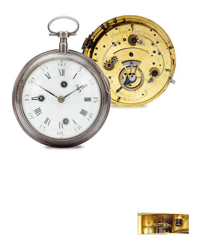 Fedor Kovalskii, Kremensuk [Ukraine]. A very rare Russian silver quarter striking and repeating coach watch with unusual cylinder escapementNo. 569, second half 18th century
