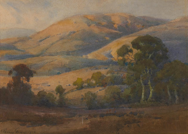 Percy Gray (1869-1952) Marin County hills, 1928 10 x 14in