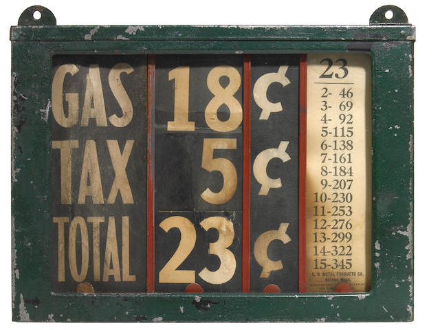 A gas station price sign
