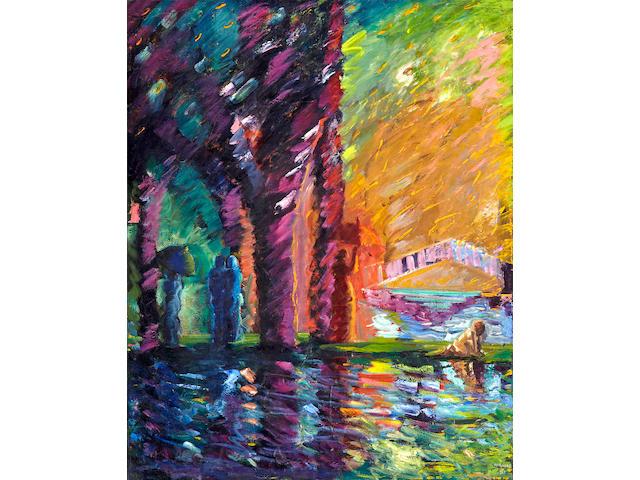 Carlos Almaráz (Mexican/American, 1941-1989) Vertical Lake, 1983 60 x 48in