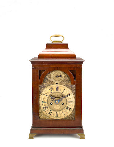 A George II mahogany half hour striking bracket clockJohn Pittman, London, second quarter 18th century