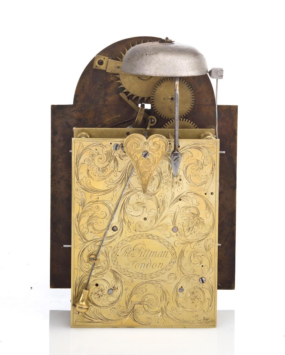 A George II mahogany half hour striking bracket clock John Pittman, London, second quarter 18th century