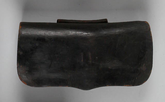 An early American militia cartridge pouch